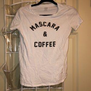 """Mascara & Coffee"" White T-Shirt | Old Navy"